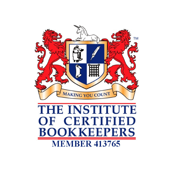 The Institute of Certified Bookkeepers logo Member Number 413765