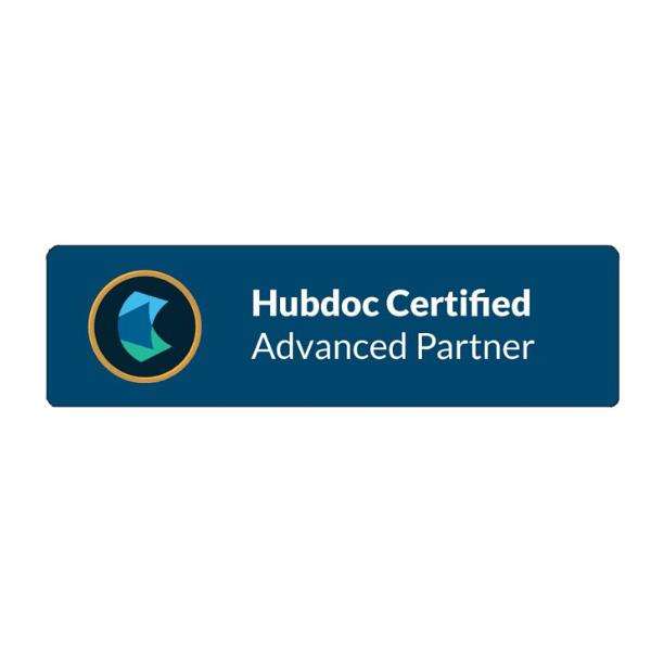 Hubdoc Certified Advanced Partner Logo